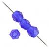 Fire Polished 4mm Cobalt Blue Matte